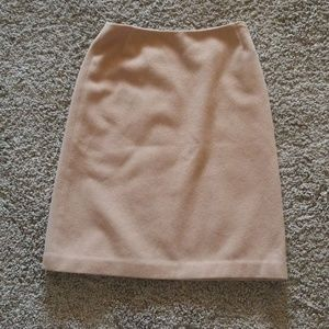 brooks brothers camel hair skirt